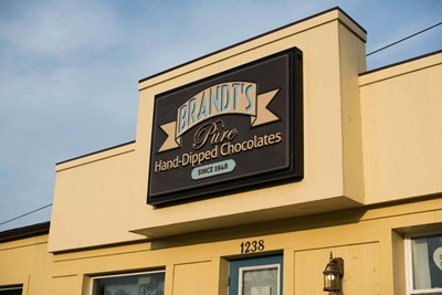Brandt's using cabinet sign by BlinkSigns