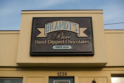 Brandt's Cabinet sign and Post N Panel sign by BlinkSigns