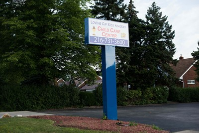 Loving Cup Kids Academy pylon signs by Blinksigns