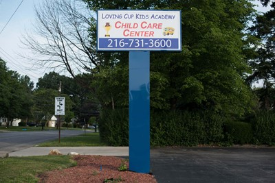 Loving Cup Kids Academy Pylon Signs Blinksigns