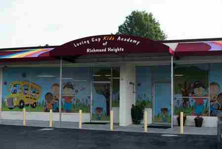 Loving Cup Kids Academy commercial awnings, monument signs and pylon signs