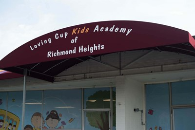 Commercial Awnings Of Loving Cup Kids Academy | Blinksigns