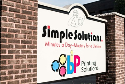 Simple Solution monument signs by Blinksigns