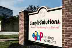 Simple Solution monument signs