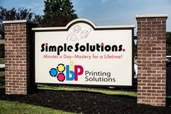 Simple Solution monument signs 1 by Blinksigns