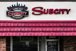 Sub City channel letter sign by Blinksigns
