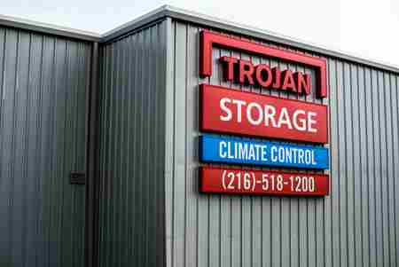 Trojan Storage channel letters and monument signs