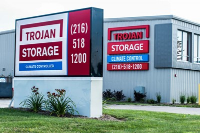 Trojan Storage Use Monument Signs | Blinksigns