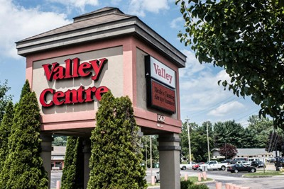 Valley Centre using illuminated channel letters and pylon signs