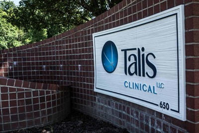 Talis Clinical using wall signs by BlinkSigns