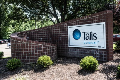 Talis Clinical using wall signs