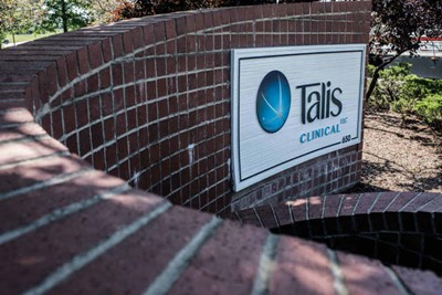 Wall graphic signs used by Talis Clinical