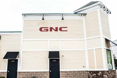 GNC using Flat cut outs and Tenant Faces by BlinkSigns