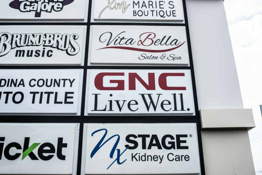 Gnc Using Health And Fitness Signs Vinyl Graphics