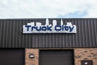 Truck City channel lettering, window and wall graphic signs | Blinksigns