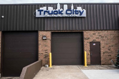 Truck City channel lettering, window and wall graphic signs by blinksigns