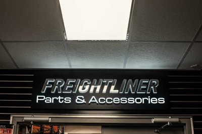 Volvo interior embedded LED signs