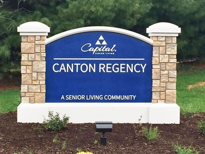 Monument sign for Capital Senior Living by blinksigns
