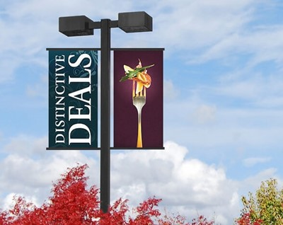 Pole banner for distinctive deals by Blinksigns