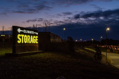 Monument sign for Climate Storage By Blinksigns in Knoxville, TN