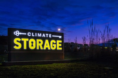 Monument signs as illuminated signs for climate storage By Blinksigns in Knoxville, TN