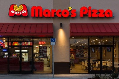 BlinkSigns channels letters signage type for Marco's pizza