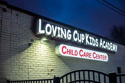Channel Letters Signs of Loving Cup Kids Academy | Blinksigns