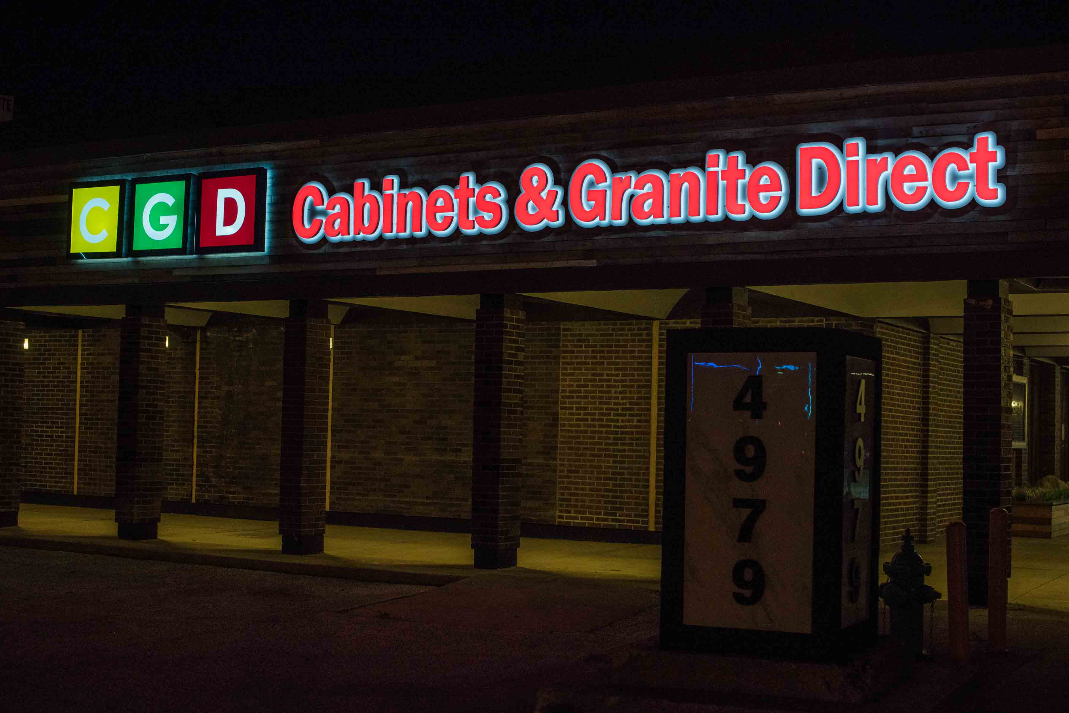 cabinet signs and exterior signs by blinksigns