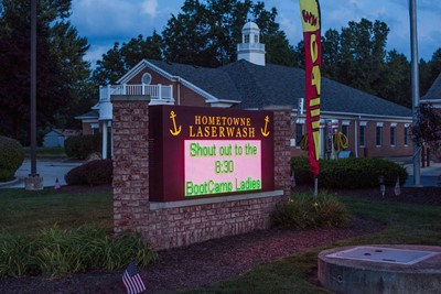 Hometown Laserwash Monument LED Sign by blinksigns