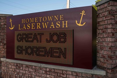 Hometown Laser Wash Monument EMC Sign | blinksigns