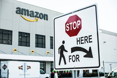 Amazon Directional Wayfinding Sign | Blinksigns
