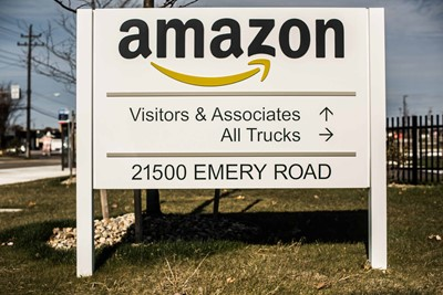 Amazon Directional Wayfinding and Monument Sign by blinksigns
