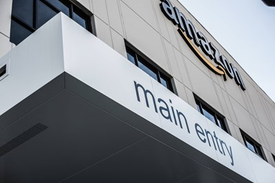 Amazon Wall Graphics and Channel Letters by Blinksigns