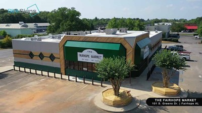 Commercial Awnings of The FairHope Market | Blinksigns