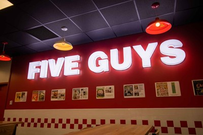 Five Guys Channel Letter Restaurant Signs