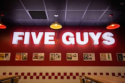 Five Guys Channel Letter - Restaurant Signs