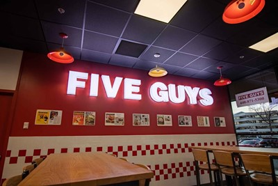 Five Guys Restaurant Signs - Channel Letter