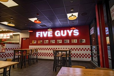 Five Guys Interior Channel letter Signs - Restaurant Signs