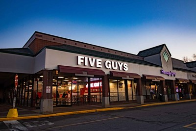 Five Guys Channel letters