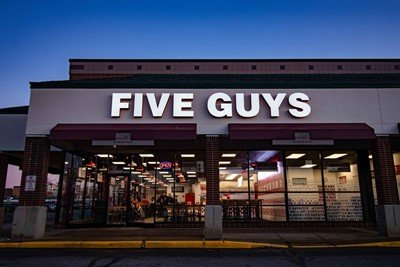 Five Guys Channel letter Exterior Signs