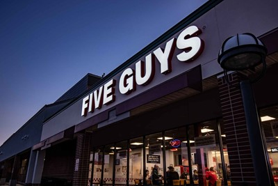 Five Guys Channel Letters - Restaurant Signs