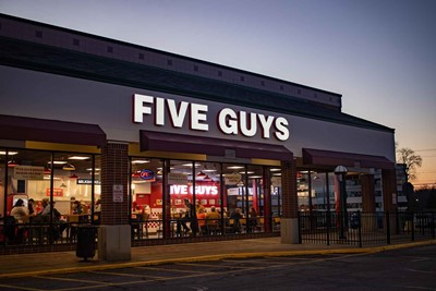 Five Guys Restaurant Signs | Channel Letters