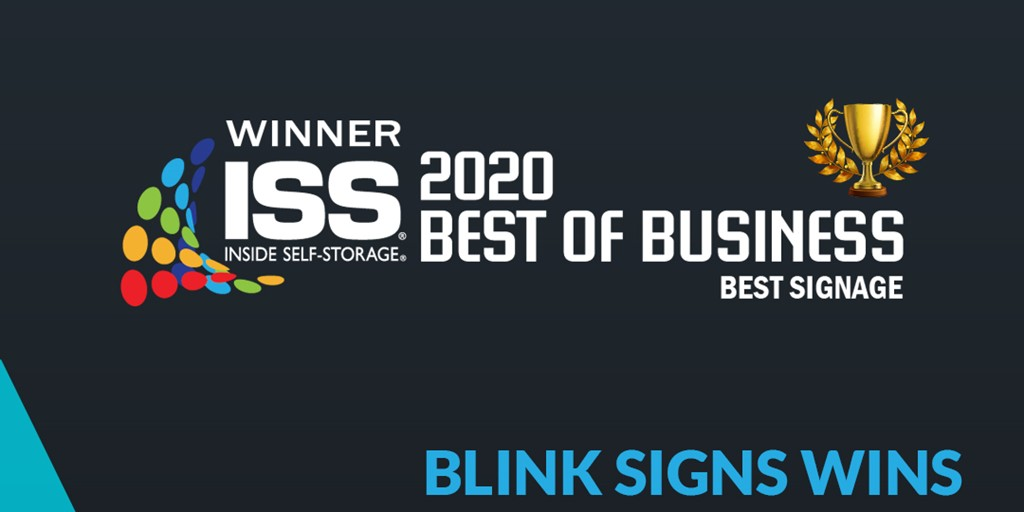 Blink Signs Bags Inside Self-Storage's Best of Business Award 2020 (Signage Category)